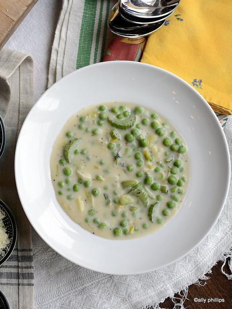 parmesan pea soup