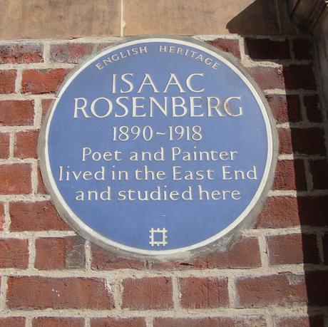 #plaque366 Isaac Rosenberg in Whitechapel