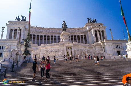 The Alter of the Fatherland or Altare della Patria in Italian