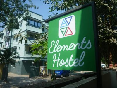 Elements Hostel on a quiet street