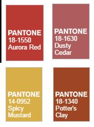 Warm pantone 2016 fall