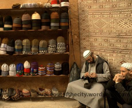 One of the many craftsmen in Fez