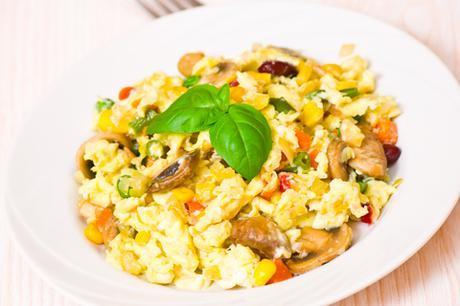 Paleo Breakfast Italian Vegetable Scramble Featured Image