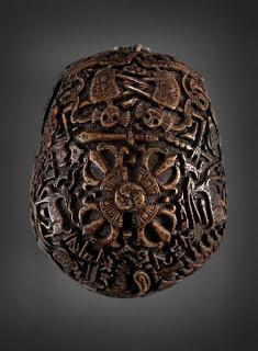 Ancient Kapala Sanskrit Carved Skulls - Kris Kuksi - diversion into more primal carvings