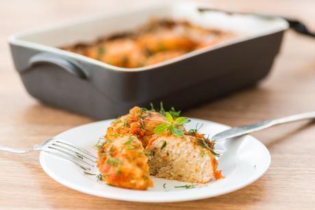 Paleo Breakfast Baked Chicken meatballs featured Image