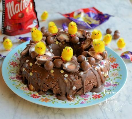 Creme Egg & Malteser Chocolate Tiffin Bundt Cake