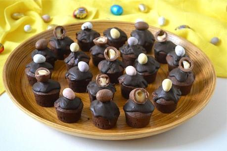 Easter chocolate cakes
