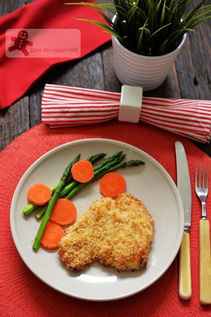 unfried oven baked crispy panko chicken