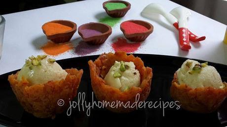 Thandai Ice Cream Recipe, How to make Thandai Popsicle | Thandai Ice Cream with Gajar Halwa Cups
