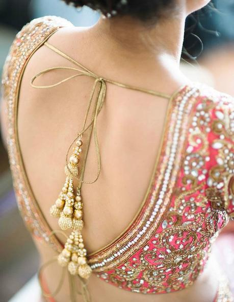 latest blouse designs for party wear sarees