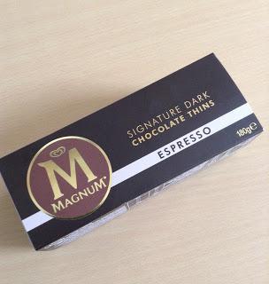 Magnum espresso dark chocolate thins