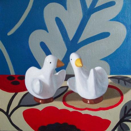 Still Life Of Ducks Painting by Maureen O'Connor At MassArt Auction