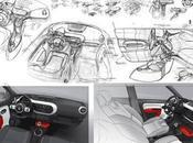 Renault Twingo Interior Sketches Designer Laurent Negroni