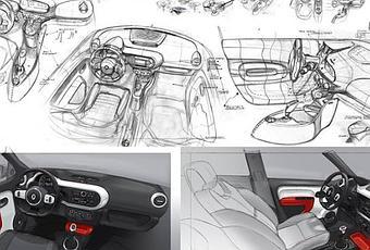 Renault Twingo 3 Interior Sketches by Designer Laurent Negroni ...