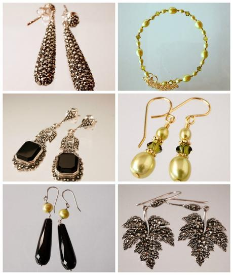 Miss Fisher Collection earrings and bracelet
