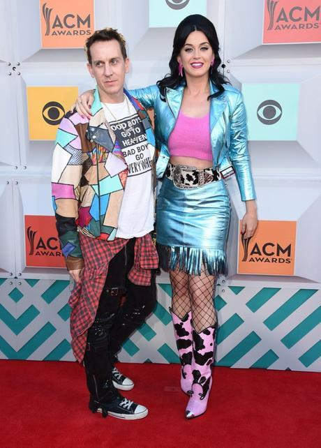 jeremy scott and katy perry acm red carpet
