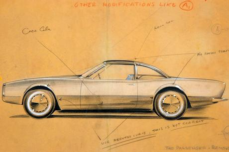 Car Design sketches from 50's & late 60's - The American Dream