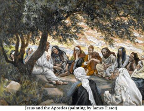 Jesus and His apostles, by James Tissot