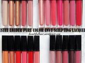 Swatches: Estee Lauder Pure Color Envy Sculpting Lacquer Gloss Shades