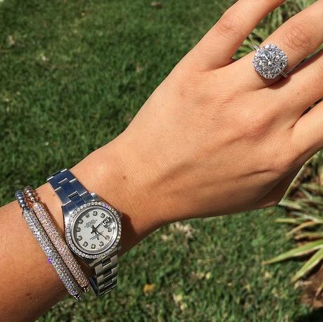 Huge diamond halo engagement ring