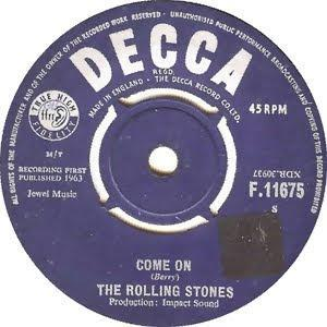 Friday is Rock'n'Roll London Day: Come On The Rolling Stones First Single