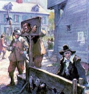 Puritan shaming