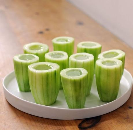 Cucumber Edible Shot Glass