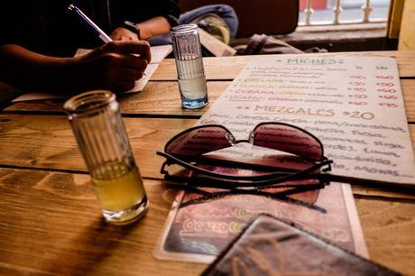 Street photographers need fuel! In this case some Mezcales shots to fuel the next masterpieces.