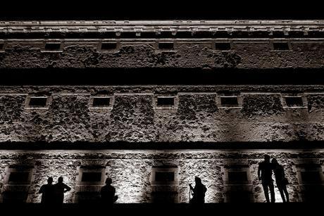 The Regional Museum of Guanajuato Alhóndiga de Granaditas makes for one very nice background at night.