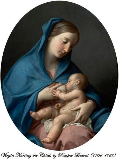 Virgin Nursing the Child, by Pompeo Batoni