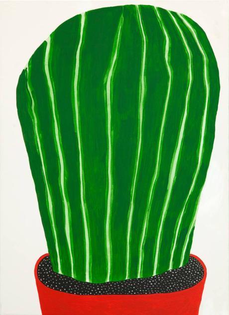 Oversize Cactus Painting