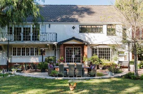 Tiffani Thiessen's inviting modern Tudor home