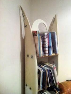 Surfboard Used To a Bookshelf