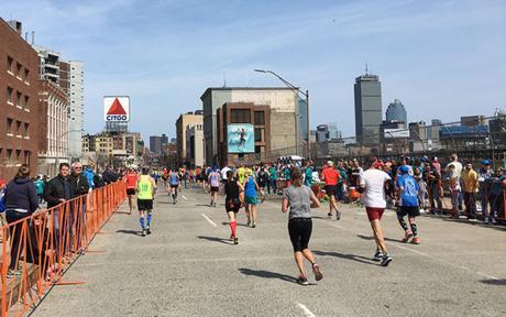 Citgo sign at mile 25 of Boston Marathon