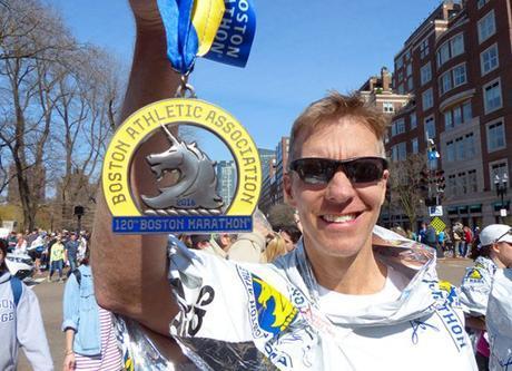 Mike Sohaskey with Boston Marathon medal 2016