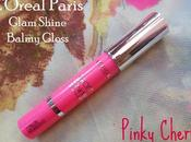 L'Oreal Paris Glam Shine Balmy Gloss Pinky Cherry Review, Swatches Pictures
