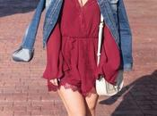 Lace Bell Sleeved Wine Colored...Oh