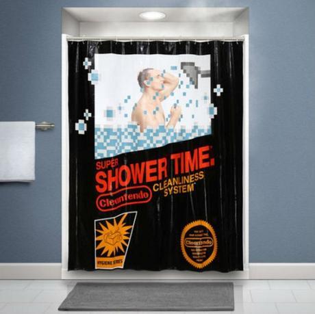 NES Retro Videogame Shower Curtain