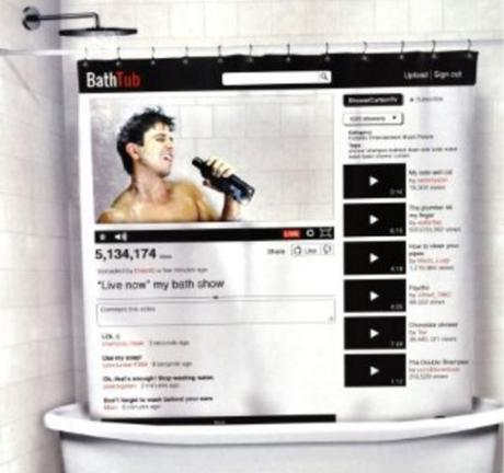YouTube Style Shower Curtain