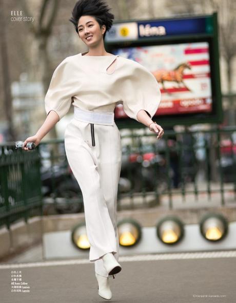 Actress Gwei Lun-Mei in Céline, Loewe and Lanvin © Benjamin Kanarek