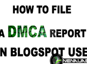 File DMCA Takedown BlogSpot Copyright Infringement