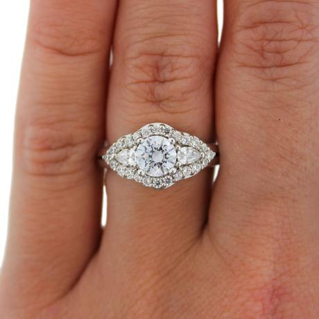 A Jaffe halo engagement ring