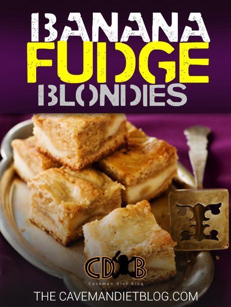 paleo dessert recipes: banana fudge blondies main image