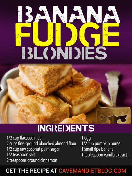 paleo dessert recipes: banana fudge blondies ingredient image