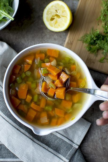Detox Soup with Carrot & Green Beans