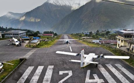 Tenzing-Hillary Airport – considered the most dangerous runway in the world.