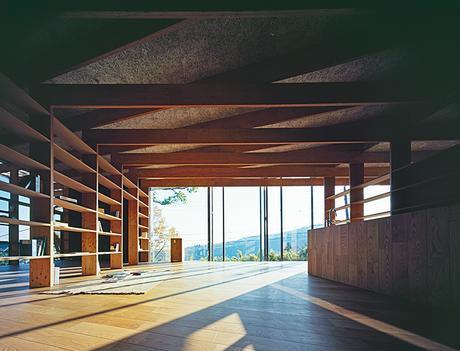 Modern Japanese hilltop home construction with Kodama wood flooring