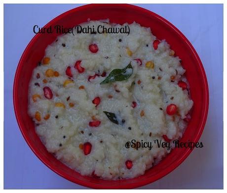 Chawal | Yogurt(curd) Rice Recipe, Dahi Chawal | Yogurt(curd) Rice ...