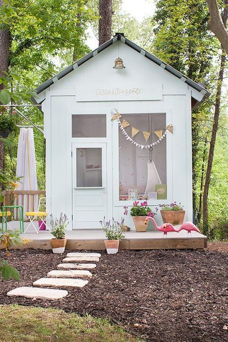 10 Dreamy Kids' Playhouses You'll Wish You Grew Up With via Brit + Co.: