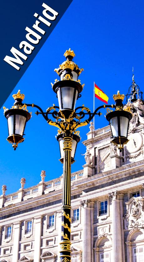 Even the lamp posts are fancy in Madrid.